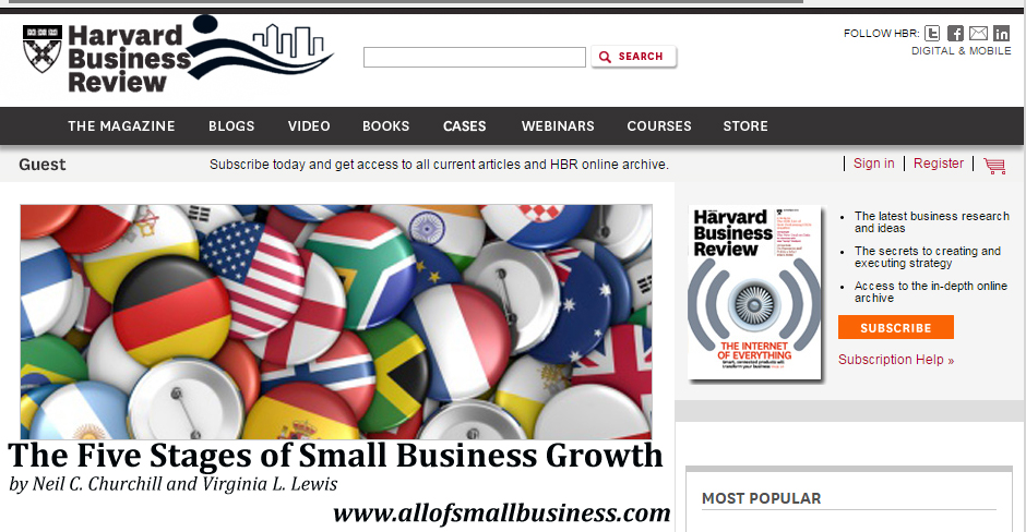 Harvard Business Review - The Five Stages of Small Business Growth