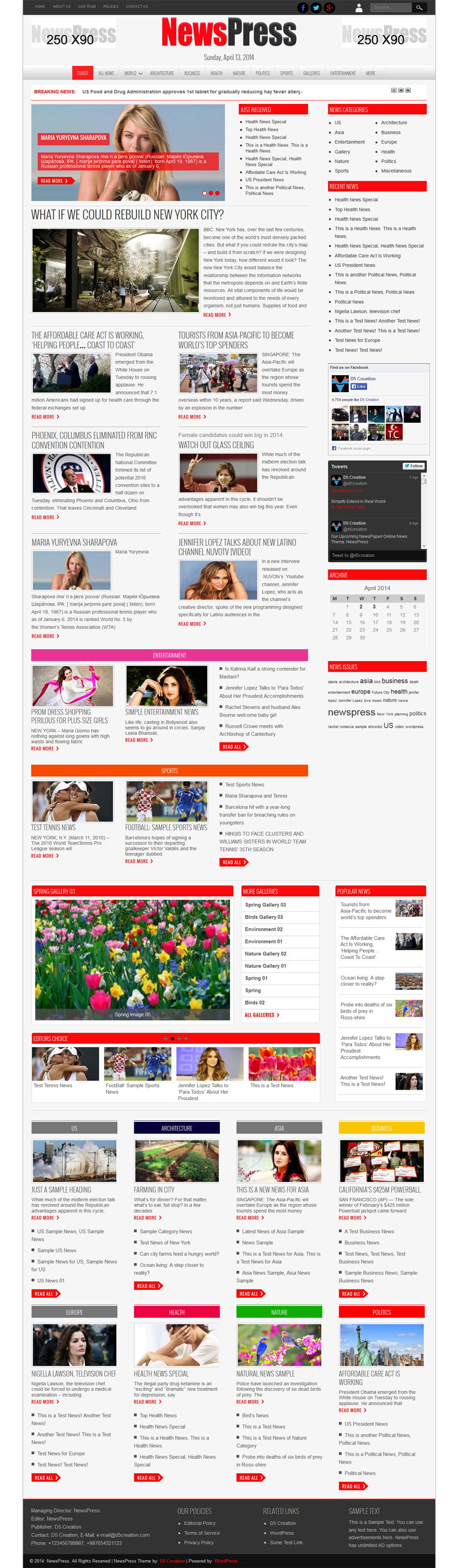 NewsPress, CSS3 and HTML5 Powered RESPONSIVE Theme