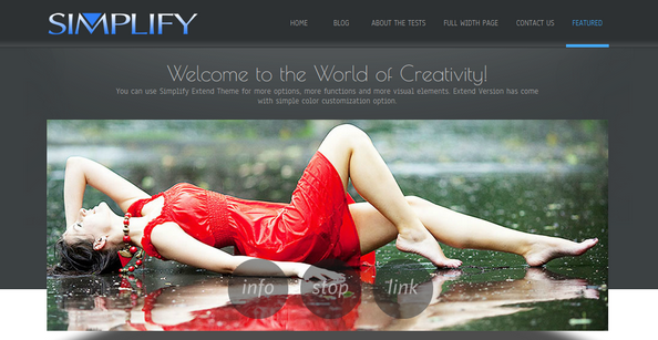 Simplify, CSS3 and HTML5 powered responsive smart theme was developed by D5Creation.com